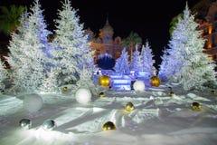 Weihnachtskasino Monaco Lizenzfreies Stockbild