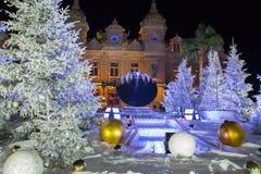 Weihnachtskasino Monaco 3 Stockbild