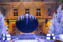 Weihnachtskasino Monaco 6 Lizenzfreies Stockfoto