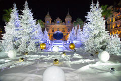 Weihnachtskasino Monaco 7 Stockfotos