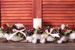 Weihnachtskegelkerzenständer Lizenzfreie Stockfotografie