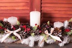 Weihnachtskegelkerzenständer Stockbild