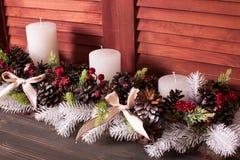 Weihnachtskegelkerzenständer Lizenzfreie Stockfotos