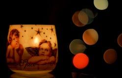 Weihnachtskerze Stockbild