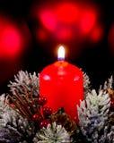 Weihnachtskerze Lizenzfreie Stockfotos