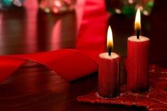 Weihnachtskerze Stockfotos