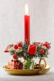 Weihnachtskerze Stockbilder