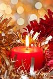 Weihnachtskerze-Leuchte Lizenzfreie Stockfotografie