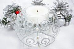 Weihnachtskerzedekoration Lizenzfreie Stockbilder