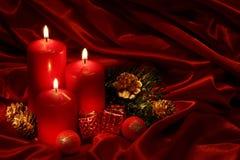 Weihnachtskerzen Stockbilder