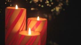 Weihnachtskerzen-Triodetail stock footage