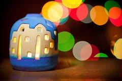 Weihnachtskerzenhalter Lizenzfreies Stockfoto