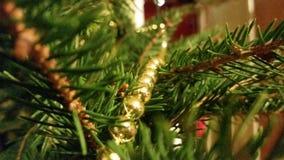 Weihnachtskette von Perlen Lizenzfreie Stockfotos