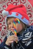 Weihnachtskind Stockfoto