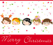Weihnachtskinder Stockbild