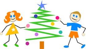 Weihnachtskinder lizenzfreie abbildung