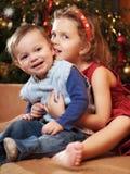 Weihnachtskinder Stockfotografie