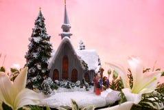 Weihnachtskirche stockfotografie