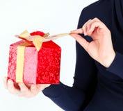 Weihnachtsklares Geschenk Stockbild