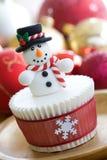 Weihnachtskleiner kuchen lizenzfreie stockfotos