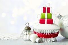 Weihnachtskleiner kuchen Stockbild