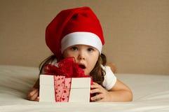 Weihnachtskleines Mädchen Lizenzfreie Stockbilder