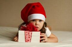 Weihnachtskleines Mädchen Lizenzfreies Stockfoto