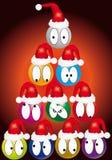 Weihnachtskomische Marionette Lizenzfreie Stockfotos