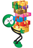 Weihnachtskomische Marionette Lizenzfreies Stockfoto