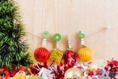 Weihnachtskonzept, abstrakter Hintergrund für guten Rutsch ins Neue Jahr 2016 Lizenzfreie Stockfotografie
