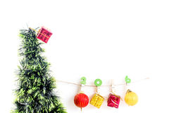 Weihnachtskonzept, abstrakter Hintergrund für guten Rutsch ins Neue Jahr 2016 Stockfotografie