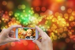 Weihnachtskonzept auf unscharfem Hintergrund Stockfoto