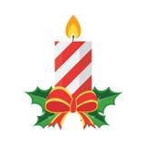 Weihnachtskonzept durch Kerze haben ein Band Lizenzfreie Stockfotos