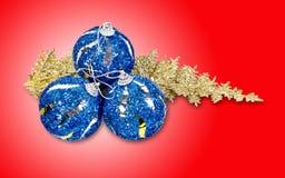 Weihnachtskonzept mit Flitter Stockfotografie