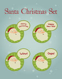 Weihnachtskonzept: Santa Facial Expressions Stockfoto
