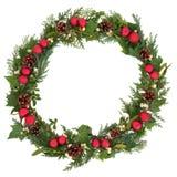 Weihnachtskranz Lizenzfreies Stockbild