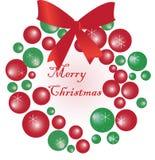 Weihnachtskranz lizenzfreie abbildung