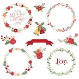Weihnachtskranz-Clipart Stockfotografie