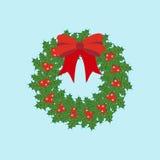 Weihnachtskranz-Ikone Lizenzfreie Stockfotografie