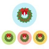 Weihnachtskranz-Ikone Stockbilder