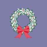 Weihnachtskranz-Illustration lizenzfreie abbildung