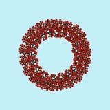 Weihnachtskranz-Illustration stock abbildung