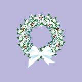 Weihnachtskranz-Illustration Lizenzfreie Stockbilder