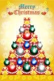 Weihnachtskranz mit Holly Springs auf Schneeflockenhintergrund - vector eps10 Lizenzfreie Stockbilder