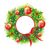 Weihnachtskranz, Weihnachtshintergrund Lizenzfreies Stockfoto