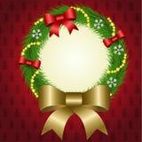 Weihnachtskranzvektor Lizenzfreie Stockfotos