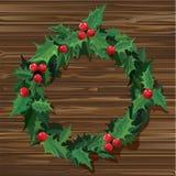 Weihnachtskranzvektor Stockfotografie