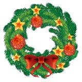 Weihnachtskranzvektor Stockbilder
