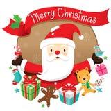 Weihnachtskreis-Fahne und Dekoration Lizenzfreies Stockbild