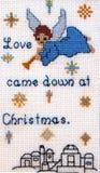 Weihnachtskreuzstich Lizenzfreies Stockbild